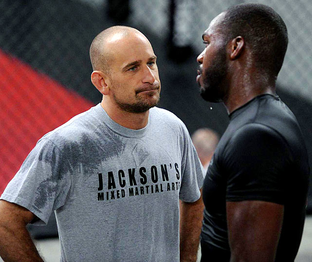 Greg Jackson corner man for Jon Jones