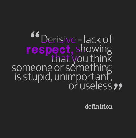 disrespect and disrespectful To disrespect someone is to act in an insulting way toward them when you  n a manner that is generally disrespectful and contemptuous synonyms: contempt.