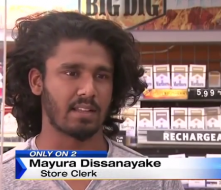 video mma fighter steps in as would be thieves attack store clerk